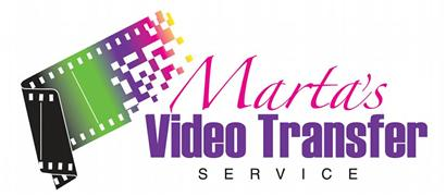 Marta's Video Transfer Service  Logo